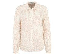 Bluse, Brusttasche, florales Design, Rosa