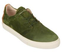 Sneaker, Veloursleder, gepolsterter Schaft, Grün