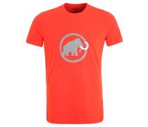 T-Shirt, Bio-Baumwolle, Rundhals, Print, für Herren, Rot