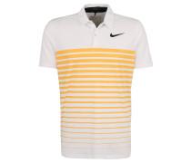 Polo-Shirt, atmungsaktiv, Streifen-Muster, für Herren, Weiß