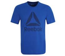 T-Shirt, schnelltrocknend, Logo-Print, für Herren, Blau