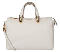 """Handtasche """"Yao Liya"""", Kalbsleder, Emblem, Weiß"""