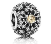 Charm Silber mit goldenen und weißen Zirkonia 791370CCZ