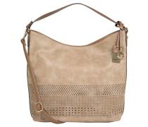 Handtasche, großformatig, Cut-Out-Muster, Umhängeriemen, Braun