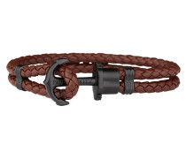 Ankerarmband PHREP IP Schwarz Braun 19cm