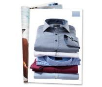 Businesshemd, geometrisches Muster, bügelfrei