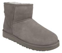 "Boots ""Classic Mini II"", Veloursleder, Lammfellfutter, Grau"