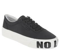 Sneaker low, zweifarbig, Print, Schnürung