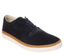 Sneaker, zweifarbig, Leder, Blau
