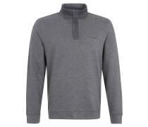 Sweatshirt, Melange, Stehkragen, Zipper, Grau