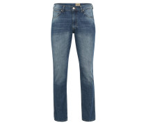"Jeans ""Greensboro"",Regular-Fit, Baumwoll-Leinen-Mix, Blau"