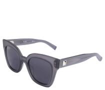 Sonnenbrille, Schmetterlings-Form, opake Optik