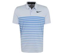 Polo-Shirt, atmungsaktiv, Streifen-Muster, für Herren, Blau