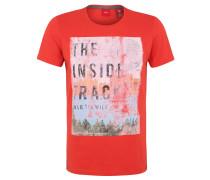 T-Shirt, Front-Print, Ziernähte, reine Baumwolle