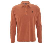 Poloshirt, Langarm, Flammgarn, Baumwolle, Orange
