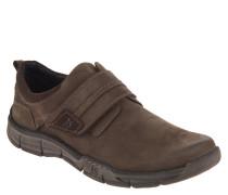 "Sneaker ""Phil 05"", Leder, Klettverschluss, Braun"