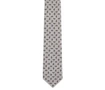Krawatte, Seiden-Anteil, Allover-Print