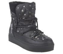 Boots, gefüttert, Nieten, Sterne, herausnehmbare Sohle, Schwarz