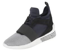 Sneaker, mit Leder, Tupfen, Metallic-Mesh, Schnürung