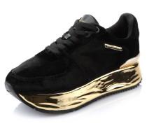 Sneaker, Plateau, Metallic