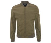 Blouson-Jacke, Gummibund, Ärmeltasche, Reißverschluss, Oliv