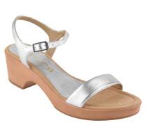 """Sandaletten """"Rita"""", beschichtetes Leder, Blockabsatz, Riemchen"""