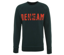 Sweatshirt, Front-Print, Raglanärmel, Rundhals, Grün