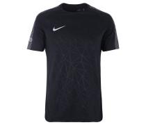 T-Shirt, schnelltrocknend, graphischer Print, für Herren, Schwarz