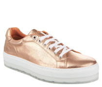 "Sneaker ""S-Andyes"", Metallic-Look, Plateausohle, Rosegold"