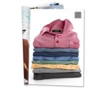 Poloshirt, Brusttasche, Braun