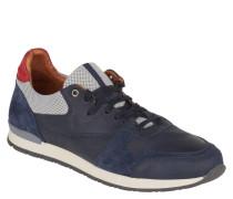 Sneaker, Mesh-Einsätze, Leder, Gummisohle, gepolsterte Ferse