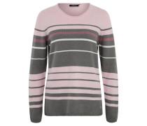 Pullover, Streifen-Optik, Rollsaum-Ausschnitt, Rosa