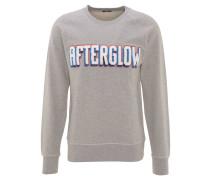 Sweatshirt, Baumwolle, Stickerei, Raglanärmel, Grau