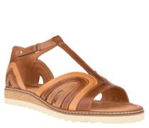 Sandalen, Leder, Klettverschluss, echtes Leder, Braun