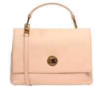 """Handtasche """"Liya"""", genarbtes Leder, Emblem, Rosa"""