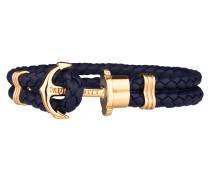 Ankerarmband PHREP IP Gold Marineblau 18cm