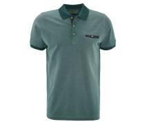 Poloshirt, Brusttasche, Kontrastfarben, Türkis