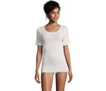 Unterhemd, Woll-Seidengemisch, thermoregulierend, Weiß