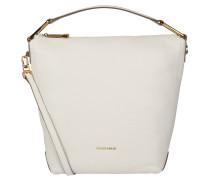 "Handtasche ""Yao Liya"", Kalbsleder, trapezförmig, Weiß"