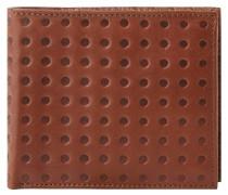 Geldbörse. Leder, Punkte-Muster, Braun