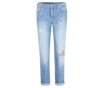 """Jeans """"Masha"""", Relaxed-Fit, Used-Look, Blau"""