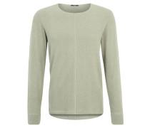 Sweatshirt, Melange-Optik, Weicher Griff, Grün