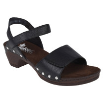Sandalette, breiter Steg, Nieten, Klettverschluss