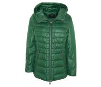 Steppjacke, verstellbare Kapuze, Reißverschluss-Taschen, Grün