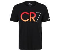 T-Shirt, Front-Print, Rundhalsausschnitt, für Herren, Schwarz
