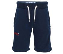 Shorts, Sweat, Logo-Stickerei, gerippte Seiten