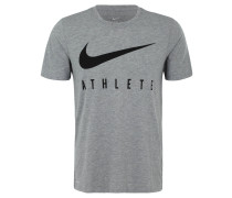T-Shirt, DRI-FIT, Melange, Logo-Print