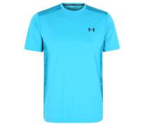 T-Shirt, kühlend, Netzeinsatz, für Herren, Blau