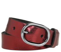 Gürtel, Leder, Metallic-Glanz, Dornschließe