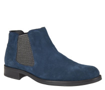 Chelsea Boots, Veloursleder-Optik, Reißverschluss, Blau